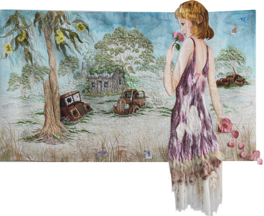 Antoinette by Jocelyne Leath; Runner-up Best of Show; 1st - Pictorial Quilts Open