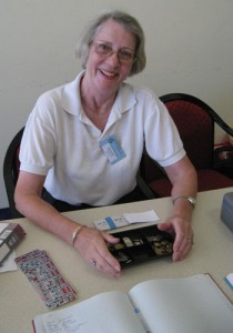 Hostess at the sign-in table