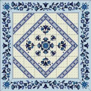 Blue Wedding Quilt drawn in EQ7