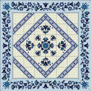 Blue Wedding Quilt drawn in EQ7