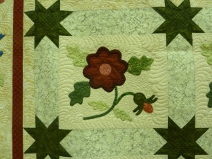 Raffle quilt for QuiltWest