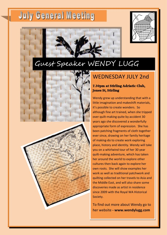 flyer Wendy Lugg WAQA Talk July 2014updated
