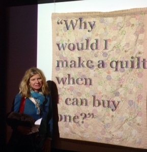 Anne Shelley and her quilt - Teenage Daughter Said