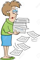 16115073-Cartoon-illustration-of-a-women-holding-papers--Stock-Vector-cartoon-office-funny