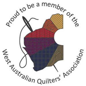 West Australian Quilters' Association blog button