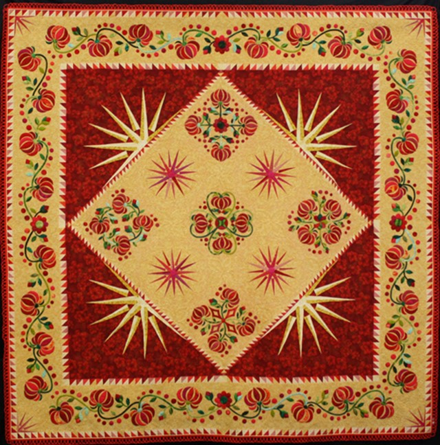 Canzone Rosso by Pamela Brockwell, 2015 Members' Exhibition, Canberra Quilters Inc