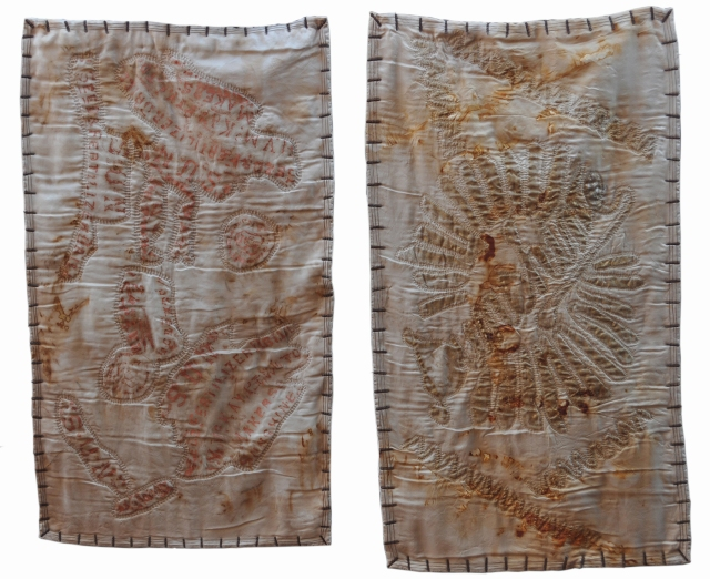 'As Ye Sow We Hope Ye Will Reap', by Taryn Blight stitched and bound 2014 – back to The Razor's Edge