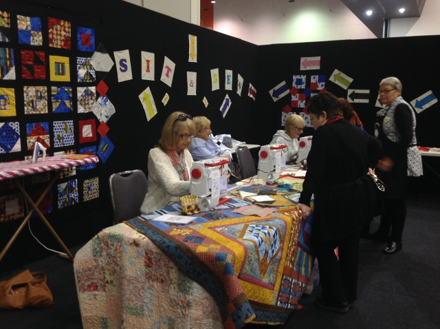The Sit and Sew area
