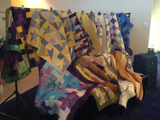 Quilts destined for the Multiple Scerosis Society