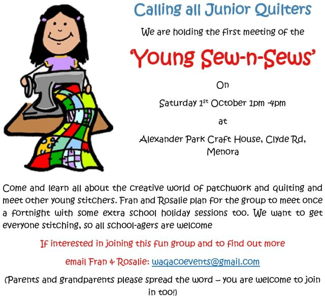 Calling all Junior Quilters-page-0poster
