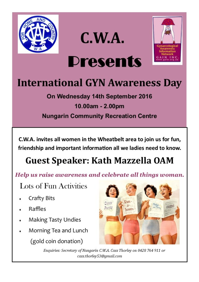 C.W.A. Flyer GYN Day 2016