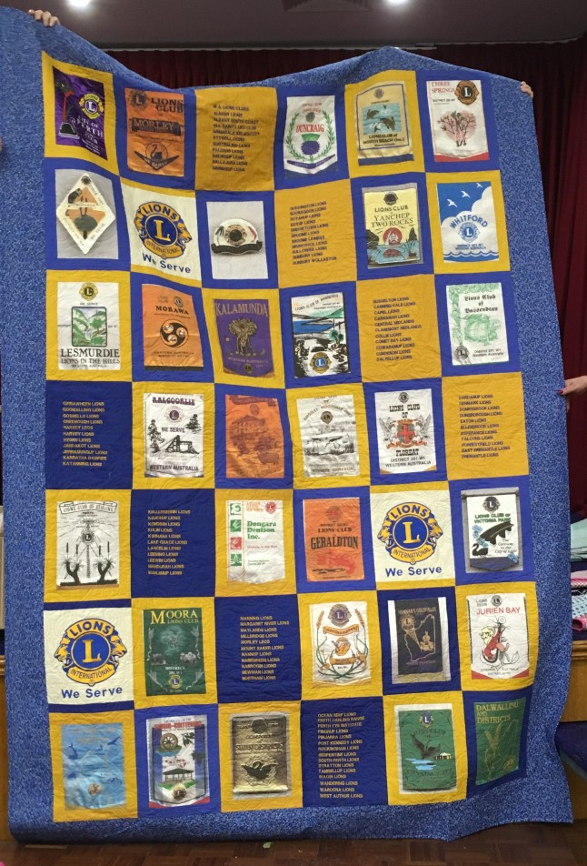 Lions commemorative quilt